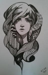 Drawing by my awesome cousin Bara
